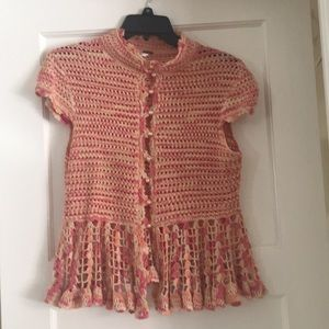 Gorgeous crochet sweater in perfect condition